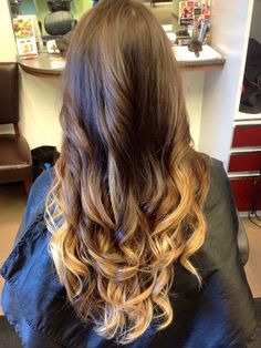 Brown hair with blonde ombré
