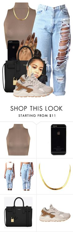 """""""Pinterest:trillestfashion"""" by trillest-fashion ❤ liked on Polyvore featuring WearAll, Yves Saint Laurent and NIKE"""