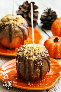 Gluten-Free Vegan Peanut Butter Cookie Caramel Apples...a healthier caramel apple that's vegan, gluten-free, dairy-free, egg-free and contains no refined sugar   The Healthy Family and Home