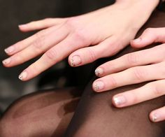 Jenny Packham Fall 2013 nails 2 How to recreate the twinkling fingertips from Jenny Packham F/W 13