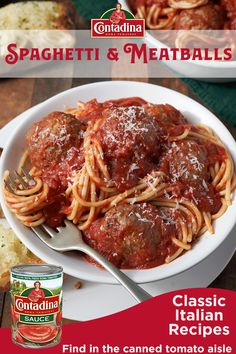 Create memorable family moments with our Spaghetti & Meatballs recipe. This authentic, hearty dish boasts rich, Italian flavor featuring both Contadina® Tomato Paste and Sauce. While the sauce simmers on the stove and the tender, beef meatballs bake in th Sauce Recipes, Pork Recipes, Crockpot Recipes, Cooking Recipes, Recipies, Meatball Recipes, Spaghetti And Meatballs, Spaghetti Sauce, Italian Meatballs
