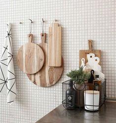 """Hübsch interior baskets """"Noah"""" set of 3 – Decor Ideas Kitchen Corner, New Kitchen, Kitchen Dining, Kitchen Decor, Kitchen Tiles, Decoration Chic, Ideas Para Organizar, Scandinavian Kitchen, Cuisines Design"""