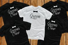 Groom t shirts 6 Bachelor Party groomsmen gift for by lptshirt