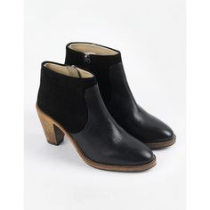 Boden Harper Boot (€110) ❤ liked on Polyvore featuring shoes, boots, black, bohemian boots, bohemian shoes, leather boots, real leather boots and bohemian style shoes