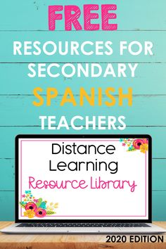 This amazing resource library has 25+ FREE distance learning resources from many of the top Spanish stores on TpT! All are digital or distance-learning friendly and ready for you to use in SPanish class. Whether you teach middle school Spanish or high school Spanish, you are sure to find resources you love! These work great for remote learning, in-person instruction, and everything in between! #spanish #distance #digital #activities #