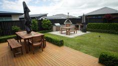 Decreasing sections sizes, increasing house sizes and lifestyle choices are shrinking the average backyard.