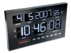If you're looking for a timepiece that offers a little something different for your bedroom, the Gforce Power LED Calendar Clock fits the. Timing Is Everything, Power Led, Gadgets And Gizmos, Digital Alarm Clock, Night Light, Calendar, Geek Stuff, Cool Stuff, Day