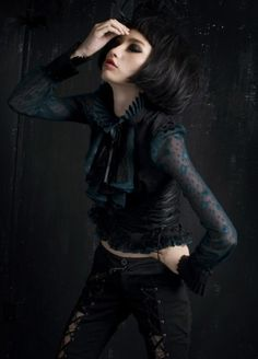 Blue GothicJacket - It's all good. Photography Institute, Victorian Goth, Gothic Outfits, Fashion Photography, Hair Beauty, Lady, Blue, Shirts, Clothes