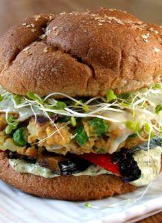 The Best Veggie Burgers with Cilantro Mayonnaise #instamburger