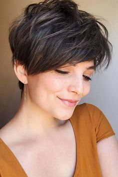 Today we have the most stylish 86 Cute Short Pixie Haircuts. We claim that you have never seen such elegant and eye-catching short hairstyles before. Pixie haircut, of course, offers a lot of options for the hair of the ladies'… Continue Reading → Long Pixie Hairstyles, Short Pixie Haircuts, Short Hairstyles For Women, Straight Hairstyles, Layered Hairstyles, Hairstyles Haircuts, Latest Hairstyles, Boy Haircuts, Fashion Hairstyles