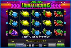 Novomatic has a fabulous two-way and 5-line slot game with a classic name Fruitilicious. The game is highly simple and accepts micro bets, which is great for beginners. Try it out today at one of the top Novomatic online casinos for free or real money. More this way....  http://www.casinocashjourney.com/slots/novomatic/fruitilicious.htm