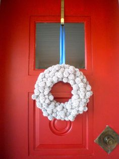 Use prickly sweet gum (or even sycamore) seed balls to create a lovely winter wreath