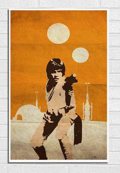 "Star Wars Luke Skywalker Vintage 11""X17"" Poster Print"