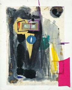 Robert Motherwell (watercolor, gouache, pasted papers, crayon and ink on paper)