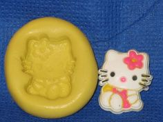 Kitty Cat Character Silicone Push Mold Chocolate Resin #436 Cake Decoration Wax #LobsterTailMolds