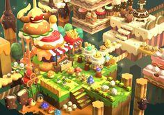 Maplestory 2 by Richard Jusuf Fantasy Words, Fantasy Art, Maplestory 2, Game Effect, Cute Games, Game Concept Art, Nature Illustration, Game Assets, Fantasy Landscape