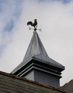 Great barn cupola and chicken weather vane