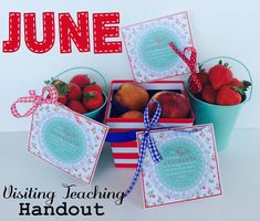 June Visiting Teaching Handout with FREE handout.