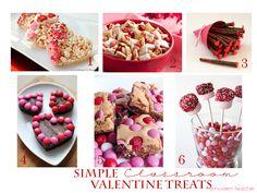 Simple Classroom Valentine Treats #Food www.amodernteacher.com