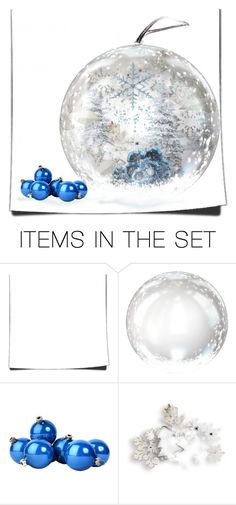 """""""blue holidays"""" by art-gives-me-life ❤ liked on Polyvore featuring art, contestentry and letsmakesnowglobes"""