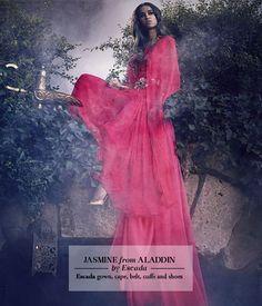 Jasmine from Aladdin by Escada. Photo Jason Ell for Harrods Magazine.