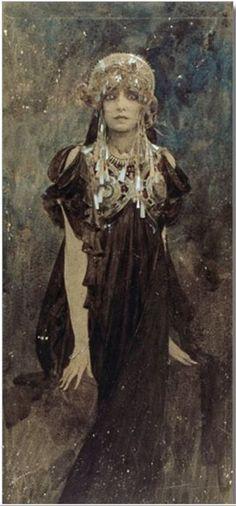 "olosta: ""   Alphonse Mucha, Sarah Bernhardt 1923 """