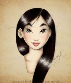 Mulan Portrait Color by MoonchildinTheSky