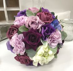 Purple Wedding Bouquets, Floral Wreath, Wreaths, Rose, Flowers, Plants, Home Decor, Floral Crown, Pink