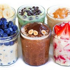 Overnight Oats In A Jar Healthy Breakfast Recipe.Banana And Chocolate Overnight Oats Recipe. Cinnamon Apple Overnight Oats Tastes Better From Scratch. Oats Recipes, Pudding Recipes, Dessert Recipes, Healthy Recipes, Vegetarian Recipes, Dessert Blog, Banana Recipes, Healthy Breakfasts, Candy Recipes