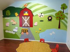 Great mural for the Preschool Department The colors the graphic