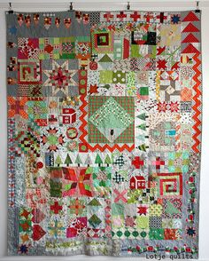 ... this is what you call an orphan quilt - a way to use all those left over (orphan) blocks!