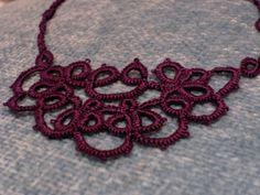 Half Moon Dreaming Necklace Tatting Pattern