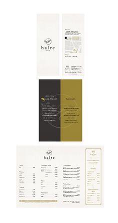 halre_Leaflet | Beauty salon graphic design ideas | Follow us on www.facebook.com/... | 美容室 デザイン リーフレット