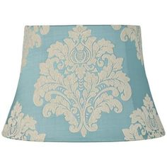 Blue Acanthus Oval Lamp Shade 9x12/12x17/x11.5 (Spider)