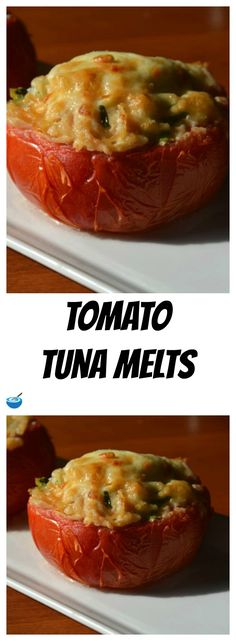 These tuna melts are so yummy!  As time goes on we are eating less and less bread but we still want a good old tuna melt experience on occasion!  This recipe for Tomato Tuna Melts satisfies every time!