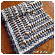 Crochet Blanket Baby Blanket Crochet Baby Blanket by opalandplum