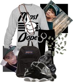 """#Most Dope"" by deannagotswag ❤ liked on Polyvore"