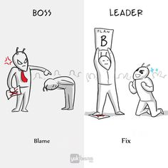 8 Illustrations That Show True Differences Between A Boss And A Leader - ScreenHumor Good Life Quotes, Real Quotes, Book Quotes, Words Quotes, Michael Scott, Boss Vs Leader, Office Cartoon, Pictures With Deep Meaning, Bad Boss