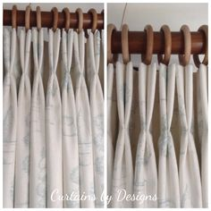 Beautiful topiary printed linen made up into double pleat curtains.