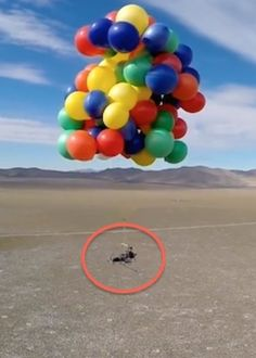 Ever dream about using balloons to float to the sky? Well of course you have and this guy actually did it!!! Up to 8,000 ft. Amazing! >> Would you do it?