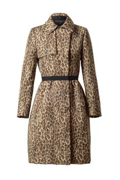 Absolutely love this for fall fashion! Giambattista Valli Leopard print trench coat. at www.farfetch.com