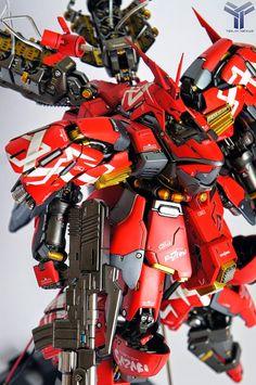 "Custom Build: G-system 1/100 Sazabi Evolve ver 2.0 ""Blazin"" + LED - Gundam Kits Collection News and Reviews"