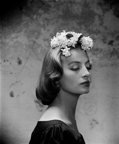 Ribbon Hats - French actress and fashion model, Cappucine