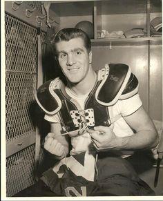 Alex Webster #29, New York Giants locker room, Yankee Stadium. (abt. 1958)