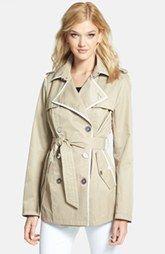 Sam Edelman 'Lydia' Contrast Trim Trench Coat