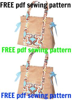 To make this beautiful, easy to sew bag just download the FREE pdf sewing pattern.