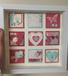 Shadow Box made by Michelle Litwiller at www.StampInFlint.com using Stampin' Up! supplies