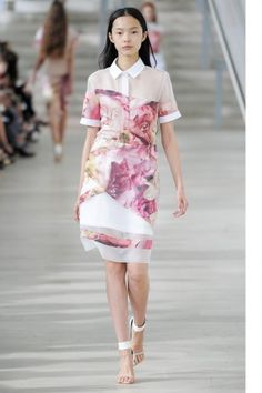 ff37f0aaa Flora and fauna at Preen Spring 2013. Love the print placement on this  garment.