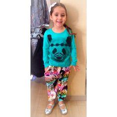 Happy Monday!!! :) #colibribebe #panda #tee #pants #love #animals #weloveclients #girlswillloveit #kidsfashion