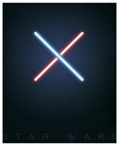 Wow, talk about minimalism.  In just a few bold strokes, artist Greg Guillemin creates an image that is instantly recognizable as a STAR WARS poster.  It's a simple, yet elegant painting... for a more civilized age.